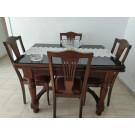 Mobiario comedor (mesa, 4 sillas, libreria, 2 sillones, sofa y mesita baja  centro)