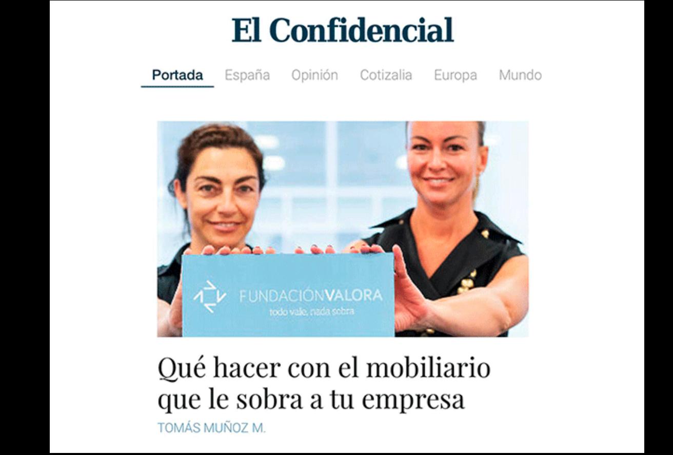 REPORTAJE DE FUNDACIÓN VALORA EN EL CONFIDENCIAL
