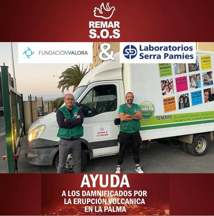 Envío de ayuda humanitaria a La Palma