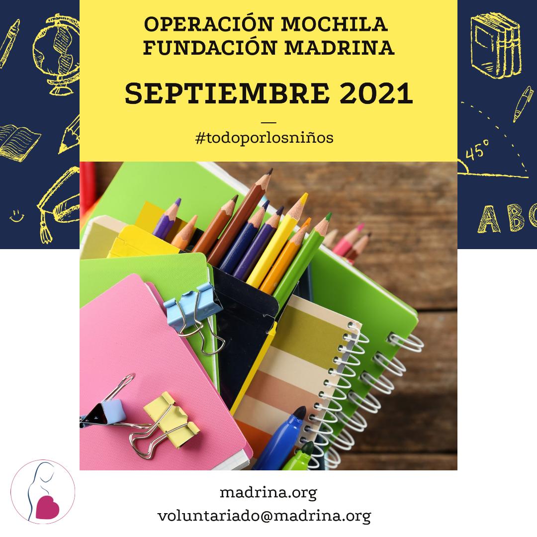 Un año más Fundación Madrina inicia su campaña de recogida de material escolar
